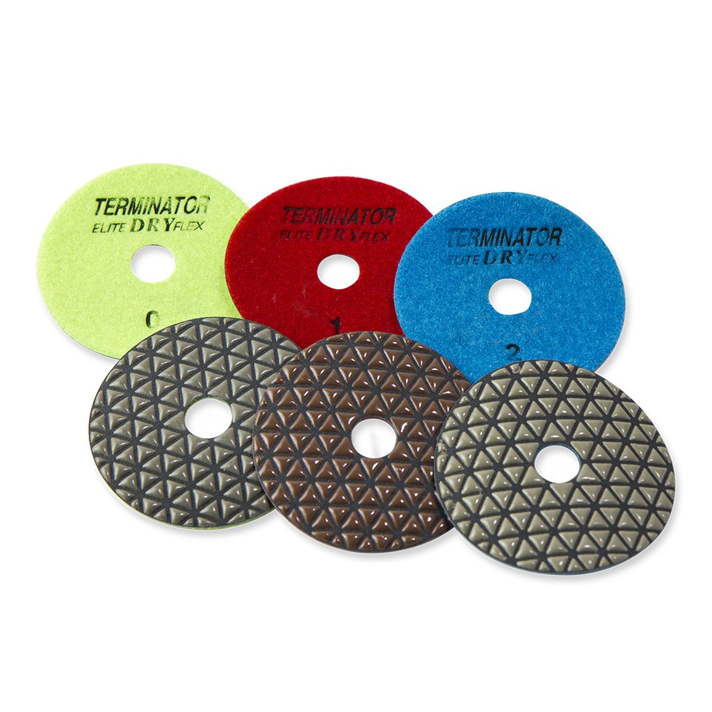 Terminator Elite 3-Step DRY FLEX Polishing Pads