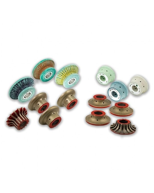 """A"" Profile 4cm Radius 10 Diamond Strip Polishing Wheels"