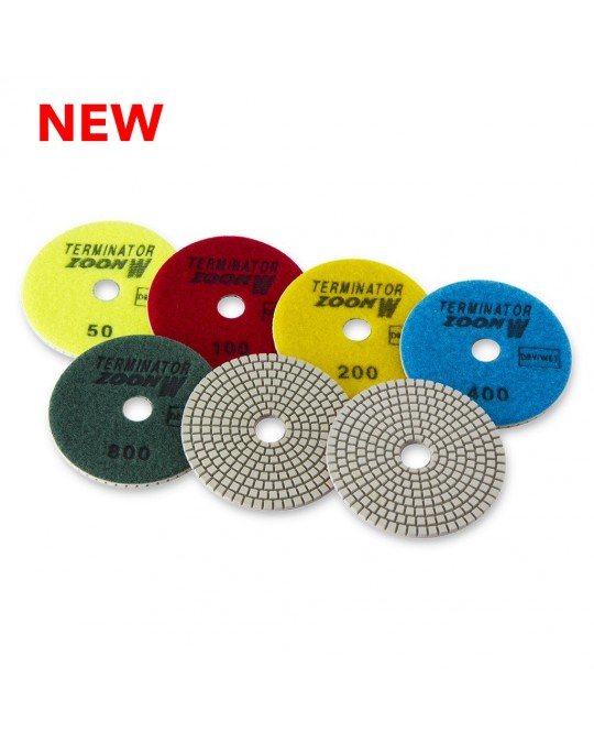 Terminator Zoom White Polishing Pads