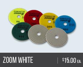 Zoom White Polishing Pads