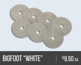 """BigFoot """"White"""" Polishing Pads"""